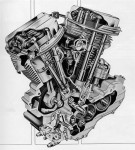 1963 PanHead Engine