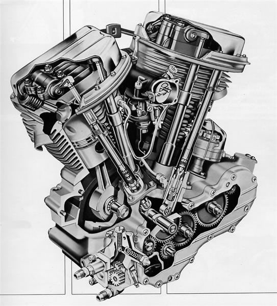 harley davidson panhead engine the basic design justpanhead com rh justpanhead com V8 Engine Diagram Car Engine Diagram with Labels
