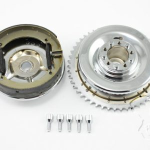 Rear Mechanical Brake Drum Kit Chrome FL 1947-1957