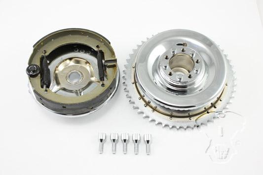 Rear Mechanical Brake Drum Kit Chrome FL 1947-1957
