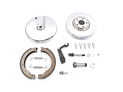 Front Brake Backing Plate Kit Right Side Chrome FL 1969-1971