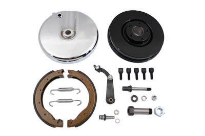 Front Brake Backing Plate Kit Polished FL 1969-1971