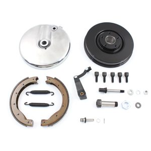 Front Brake Backing Plate Kit Left Side Black FL 1967-1968