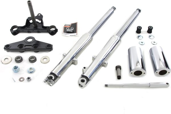 Fork Assembly with Polished Sliders Right Side Drum Brake