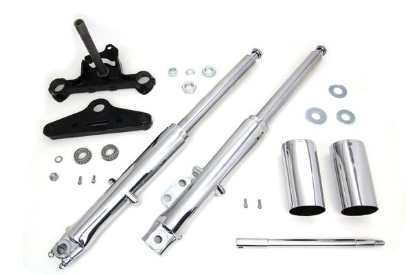 41mm Fork Assembly with Chrome Sliders