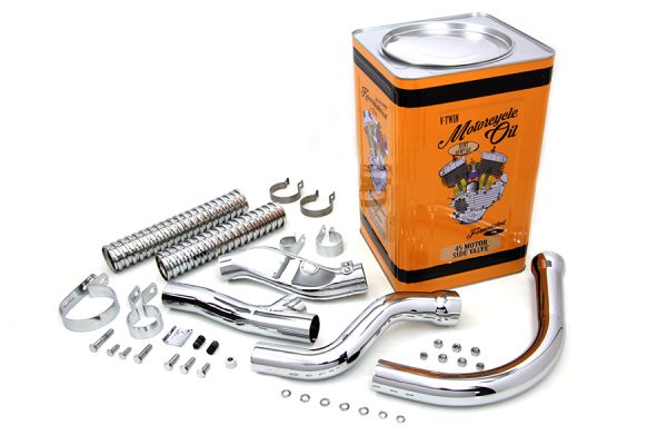 Exhaust Header Kit Chrome