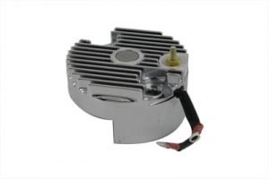 Chrome 12 Volt Regulator End Cover with Low Output