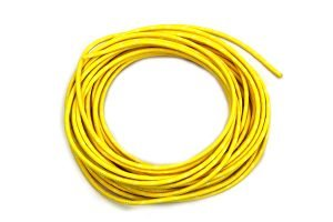 Yellow with White Dot 25' Braided Wire