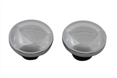 Ratcheting Style Gas Cap Set Vented and Non-Vented Chrome