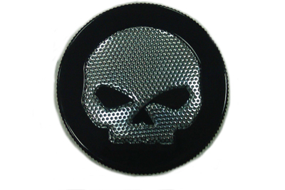 Black Skull Style Vented Gas Gap