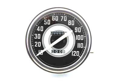 Speedometer with 2:1 Ratio and White Needle