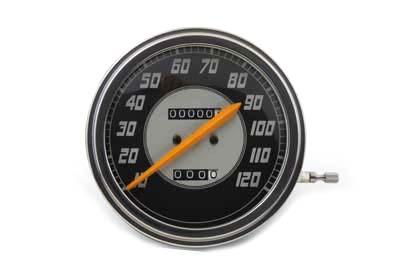 Speedometer with 2:1 Ratio and Orange Needle