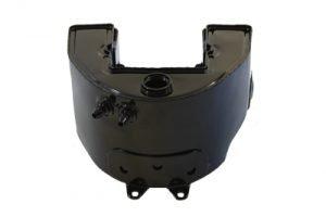 Give your rigid frame Harley Davidson Bobber an authentic vintage racing upgrade Replica Black TT Bobber Short Oil Tank
