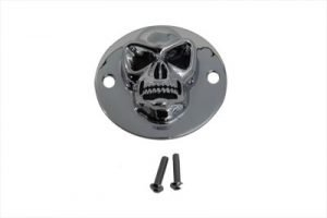 Skull Face Ignition System Cover Chrome