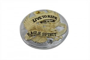 Gold Inlay Vertical Live to Ride Ignition System Cover