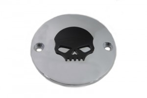 Skull Ignition System Cover Chrome