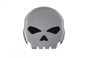 Skull Horn Cover Chrome