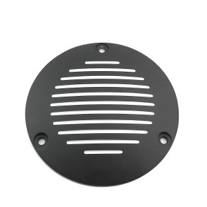 Black Grooved 3-Hole Derby Cover