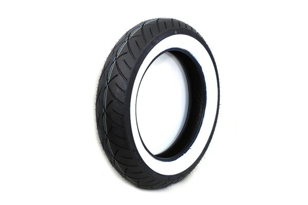 "Metzeler ME888 Marathon 130/90 x 16"" Front Wide Whitewall Tire"