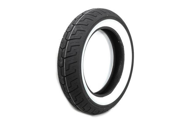 "Dunlop D401 150/80B x 16"" Rear Wide Whitewall Tire"