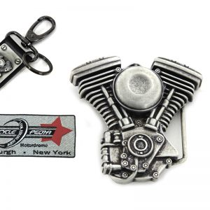 V-Twin Mens Evo Engine Buckle and Fob Set