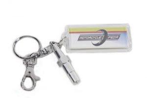 Spark Plug Design Keychain Set
