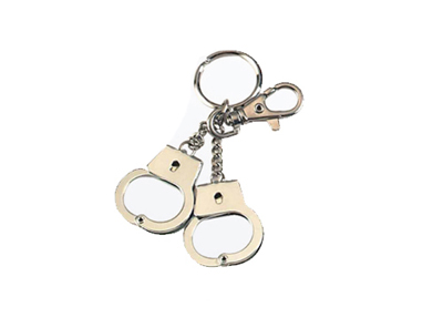 Hand Cuff Design Keychain Set