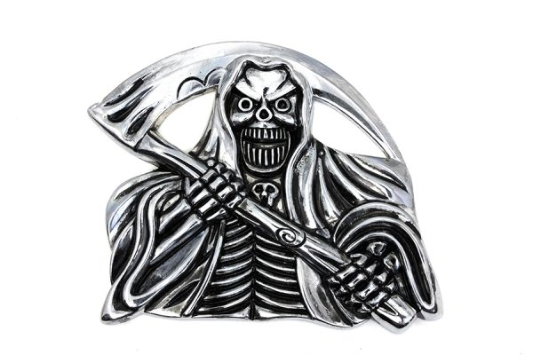 Pewter Grim Reaper with Sickle Emblem
