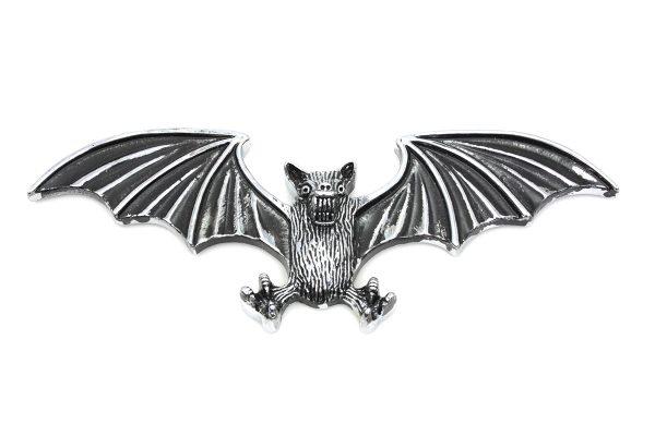 Pewter Bat Wing Emblem
