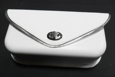 Windshield Pouch With Silver Edge Trim